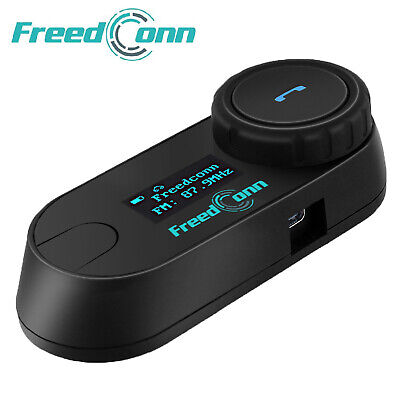 Freedconn TCOM-SC Motorcycle Intercom 3 Rider Bluetooth Helmet Headset 800M & FM • 43.99£