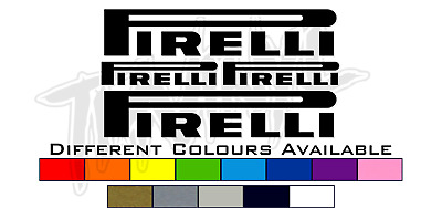 4 Pirelli Tyres Fairing Mudguard Sticker Set - Different Colours Available • 5£