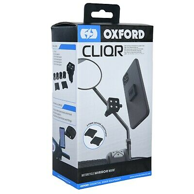 Oxford CLIQR Motorcycle Device Mirror Mount. Phone, GPS, Camera Holder OX854 • 29.75£
