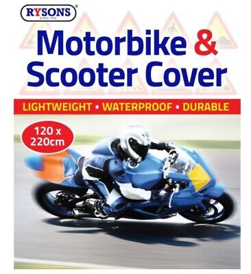 Motorcycle Waterproof Outdoor Vented Motor Bike Moped Dust Rain Cover 120x220cm • 6.10£