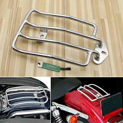 Motorcycle Solo Seat Luggage Carrier Rack For Harley Sportster 883 XL1200 Chrome • 13.94£