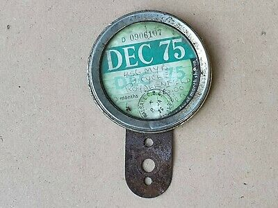 VINTAGE MOTORCYCLE TAX DISC 456 MYB & HOLDER DEC 1975 Royal Enfield Issd. 8.1.75 • 19.99£