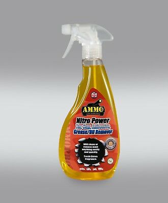 Ammo Nitro Tar, Sap, Adhesive, Grease, Oil Remover! Amazing Citrus Based Cleaner • 8.50£