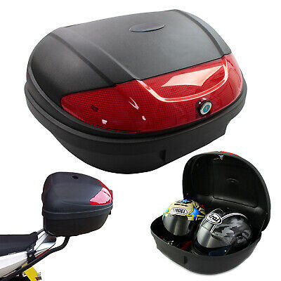 Motorcycle Extra Large Xl 52l Universal Fitting Luggage Top Box Fits 2 Helmets • 39.99£