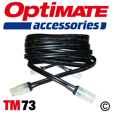Optimate 3 & 4 Extension Lead TM 73 2.5m White TM Connector • 10.50£
