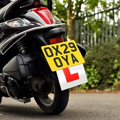 1 Oxford Motorcycle Motorbike Scooter Rigid Hard L Learner Plate OX173 - T • 4.99£