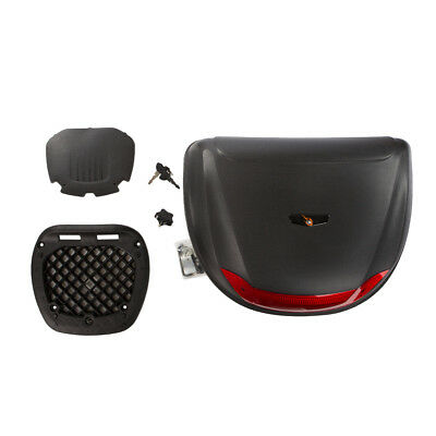 New Motorbike Motorcycle XL 52L Universal Fitting Luggage Top Box Fits 2 Helmets • 33.98£
