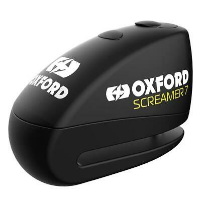 Oxford Screamer Motorcycle Disc Lock Alarm 7mm Motorbike Scooter Silver New • 21.35£