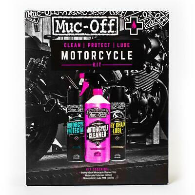 Muc-Off Motorcycle Clean Protect And Lube Kit Set Motorbike Scooter P.T.F.E M672 • 24.99£