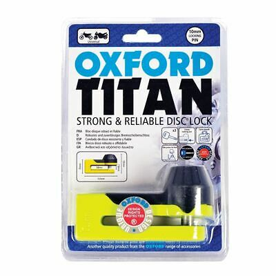 Oxford Titan Motorbike Motorcycle Disc Lock Security Yellow New • 14.99£