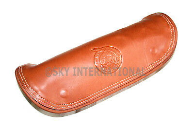 Emboss Tan Leather Tool Roll Bag Fit For Indian Bikes Motorcycle • 62.23£