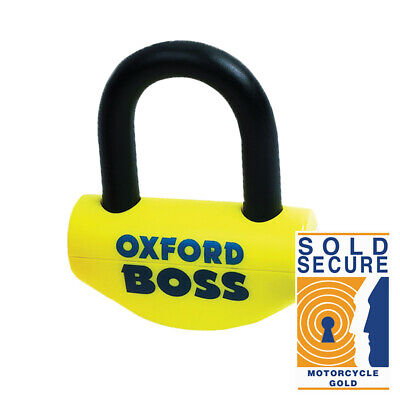 OXFORD Big Boss Motorbike Ultra Strong Disc Lock 16mm. Sold Secure Gold. OF46 • 39.99£