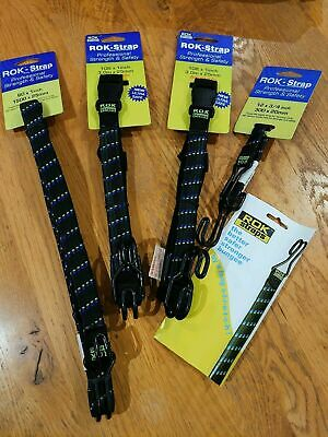 ROK Straps Box Set Of 4 Professional Strength & Safety Flat Luggage Cargo Straps • 19.25£