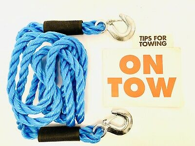 STREETWIZE Heavy Duty TOW ROPE 2.5 TONNE 4 Metre With Tow Sign Wow Only £9.99 • 9.99£
