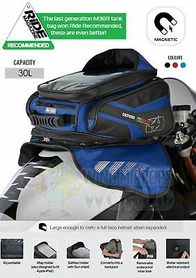SUZUKI TL1000R Oxford Magnetic Luggage Tank Bag 30L Sat Nav Blue OL247 • 98.50£