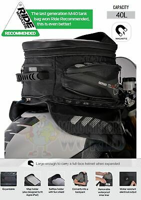 TRIUMPH SPRINT ST 1050 Oxford Magnetic Luggage Tank Bag 40L Sat Nav Black OL205 • 103.95£