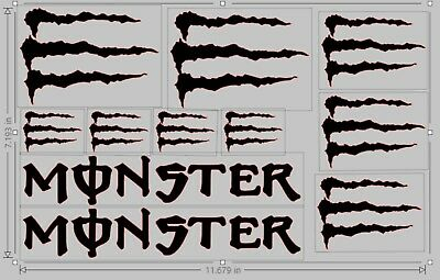 Monster Logo, Decal, Energy, Bike, Window, Glass, Vinyl, X11 Decals • 3.50£