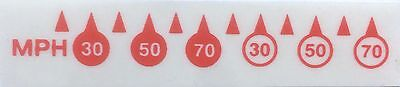 MPH Conversion Stickers Red Fits KPH Speedo For MOTORCYCLE With Instructions • 4.99£