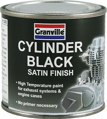 Granville High Temperature Satin Black Paint For Exhausts And Engines (100ml) • 7.99£