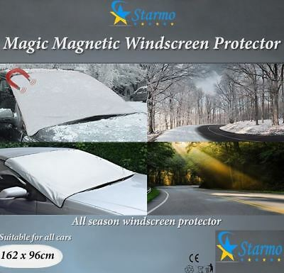 2 X Windscreen Cover Magnetic Car Ice, Frost & Snow All Weather Shield Screen • 5.49£