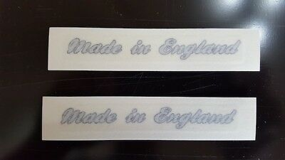 Made In England  Stickers, Silver • 5.50£