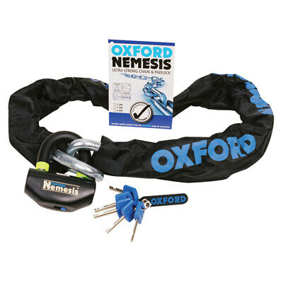 Oxford Nemesis 16mm Ultra Strong Chain & Padlock  1.5m Long Of331 Ride Best Buy • 114£