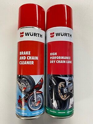 **wurth Motorbike Brake And Chain Cleaner High Performance Dry Chain Lube Kit** • 17.98£