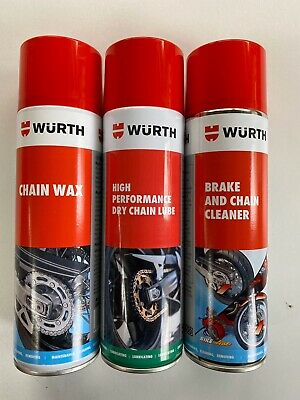 ***** WÜrth Brake And Chain Cleaner/ Chain Wax & Dry Chain Lube Kit**** • 23.99£