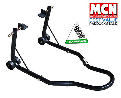New Universal Motorcycle Sportbike Track Day Garage Pit Rear Paddock Stand Black • 28.99£