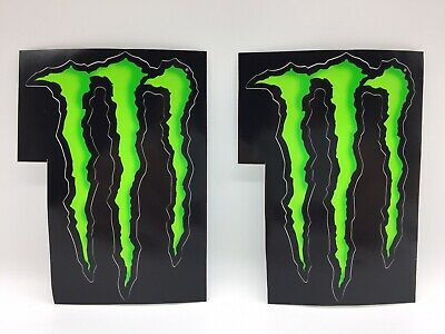 Brand New 2 X Official Monster Energy Stickers DECALS MOTORSPORT MMA MOTOGP • 3.99£