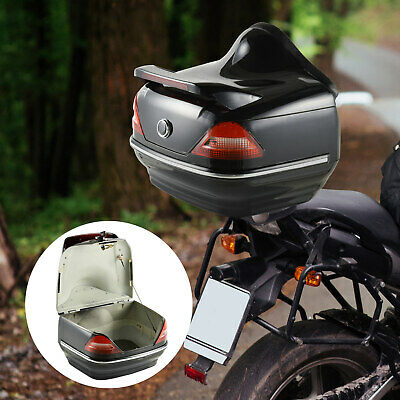 HOMCOM 26L Motorcycle Tail Box Top Case Tour Motorbike Storage Trunk Carrier • 29.99£