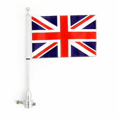 Motorcycle Rear Flag Pole &Stripes AY Flag Mount For Road King Sportster 883 AY • 14.55£