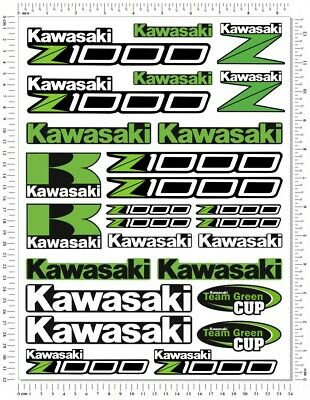 Kawasaki Z1000 Motorcycle Decals Set Laminated Quality Stickers Fairing Z 1000  • 9.99£