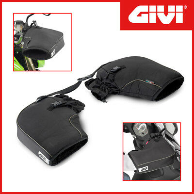 Handlebar Muffs / Hand Guards IN Polyester [ Givi ] TM418 Universal Motorcycle/ • 31.62£