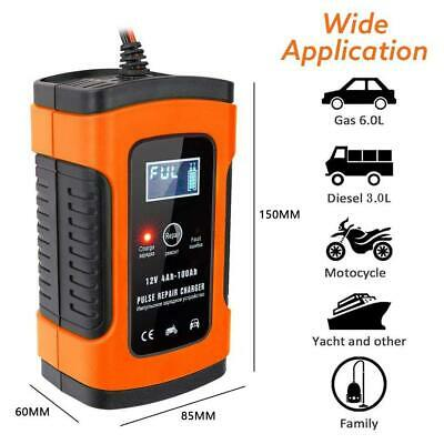 Intelligent 12V Motorcycle Motorbike Car Battery Charger Automatic Smart Trickle • 13.29£