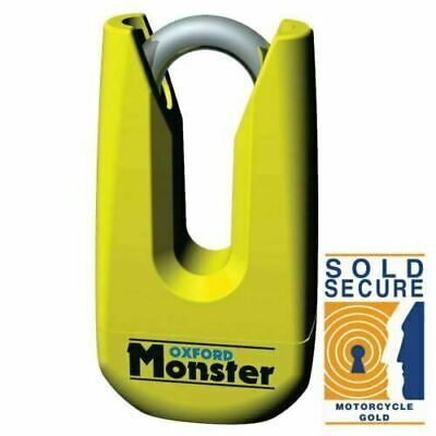 Oxford OF36M Monster Ultra Strong Motorcycle Yellow Disc Lock *BLACK FRIDAY SALE • 40.99£