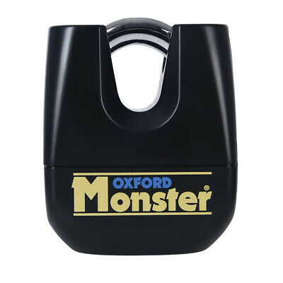 Oxford Monster HD Super Strong Motorcycle Padlock Only Double Locking 11mm OF31 • 42.39£
