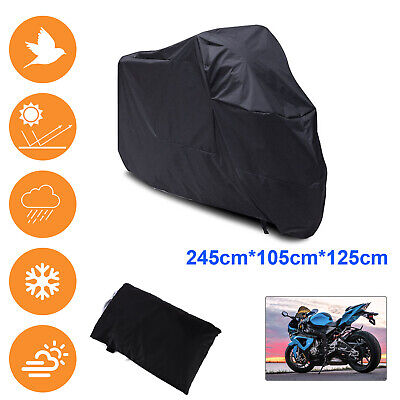 Perfect XL Motorcycle Motor Bike Scooter Waterproof UV Dust Protector Rain Cover • 8.59£