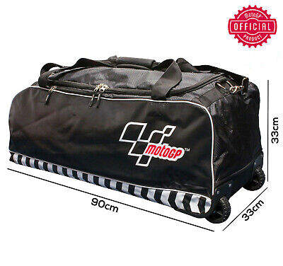 New Official Motogp Trackday Travel Wheeled Holdall Luggage Weekend Kit Bag • 59.99£