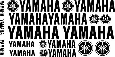 Yamaha & Yamaha Logo Motorcycle Van Car Vinyl Decals Stickers 17 Set 24  • 6.99£