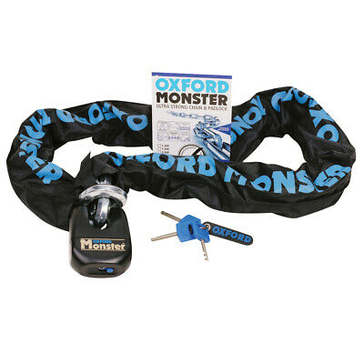 Oxford Monster 14mm Hex Ultra Strong Motorcycle Motorbike Chain & Padlock 1.5m • 89.99£