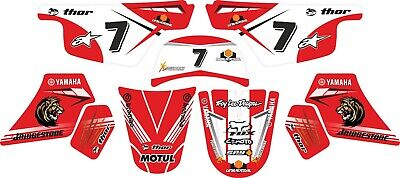 Yamaha Pw50 Decals Graphics Stickers Full Kit Red Pw 50 • 20£