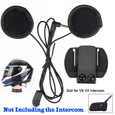 BT Headset Mic Speaker Clips For V6 V4 Motorcycle Bluetooth Interphone Intercom • 13.49£