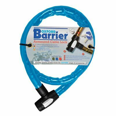 Oxford Motorcycle Security Barrier Blue Cable Lock 1.4m X 25mm OF146 • 17.78£