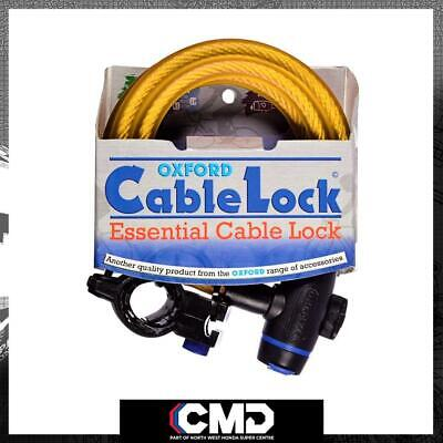 Oxford Motorcycle Scooter Security Gold Cable Lock 1.8m X 12mm OF248 • 12.37£