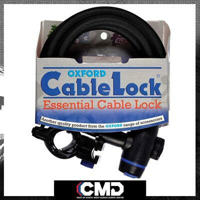 Oxford Motorcycle Scooter Security Smoke Cable Lock 1.8m X 12mm OF246 • 12.37£