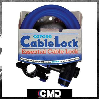 Oxford Motorcycle Scooter Security Blue Cable Lock 1.8m X 12mm OF245 • 12.37£