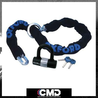 Oxford Motorcycle Pushbike Security HD Loop Chain Lock 1.2m X 10mm Sold Secure • 35.99£