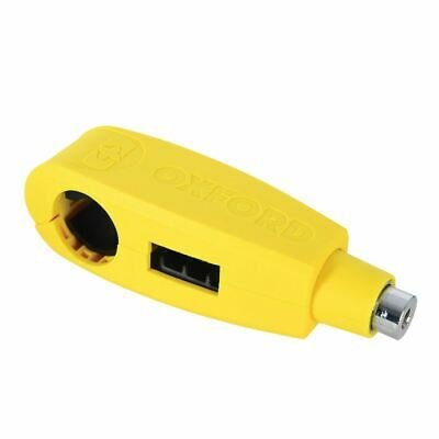 Oxford Motorcycle Security Handlebar Lever Lock Yellow Fits 28mm - 38mm LK301 • 23.49£