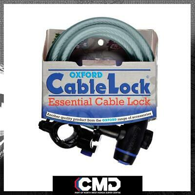 Oxford Motorcycle Scooter Security Clear Cable Lock 1.8m X 12mm OF247 • 12.37£